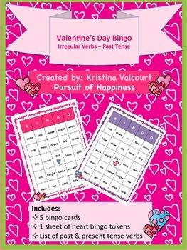 Valentine's Day Bingo - Irregular Verbs