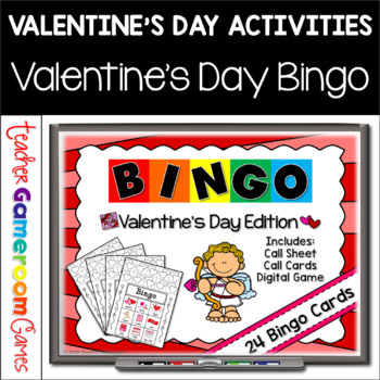Valentine's Day Bingo Powerpoint Game Kit