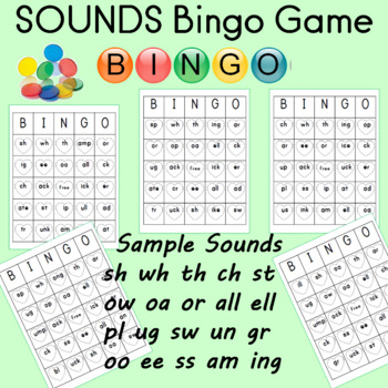 Valentine's Day Bingo Sheets for Sounds
