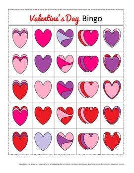 Valentine's Day Bingo! Speech and Language Re-enforcement & Enrichment Activity