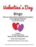 Valentine's Day Bingo! Speech and Language Re-enforcement