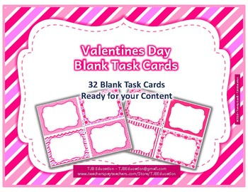 Valentines Day Blank Task Cards