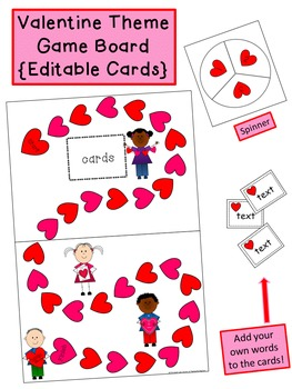 Valentine's Day Board Game {Editable!}