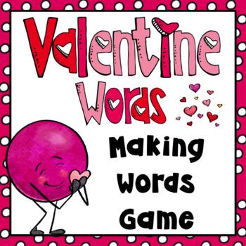 Valentine's Day Activities- Making Words