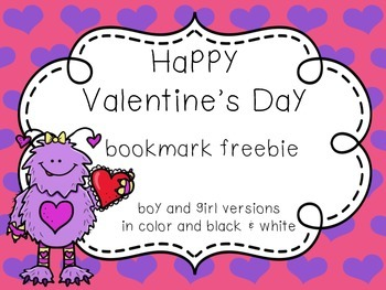 Valentine's Day Bookmark Freebie