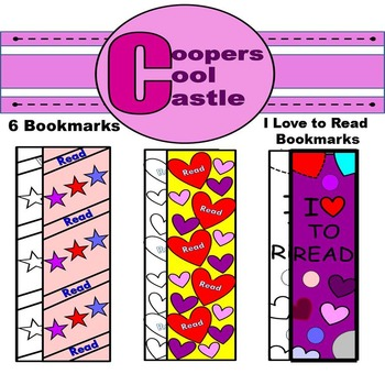 "Valentines Day Bookmarks ""I Love To Read"""