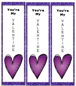 Valentine's Day Bookmarks! Just Print and Hand Out!