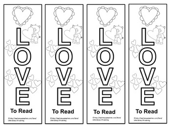 FREE Valentine's Day Bookmarks (To Color)