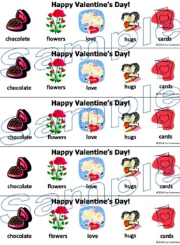 Valentine's Day Bookmarks - With and Without Vocabulary Words