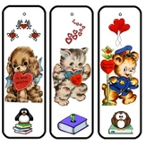 Valentine's Day Bookmarks and Gift Tags - Happy Valentine's Day!