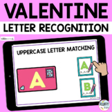 Valentines Day Boom Cards Uppercase Letter Recognition