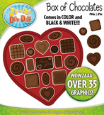 Valentine's Day Box of Chocolates Clipart {Zip-A-Dee-Doo-Dah Designs}