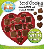 Valentine's Day Box of Chocolates Clip Art Set — Over 35 G