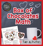 Valentine's Day Yummy Box of Chocolates Math - Fractions and Creative Writing