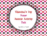 Valentine's Day Boxes Class Award Activity Pack