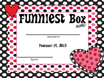 Valentine S Day Boxes Class Award Activity Pack By Life S