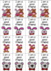 Valentines Day Brag Tags PLUS 2 Pages of Bucket Filler Tags! Black & White Too!