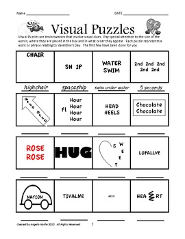 Valentine S Day Brain Teasers And Creative Thinking