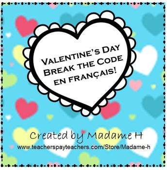 Valentine's Day Break the Code en français!