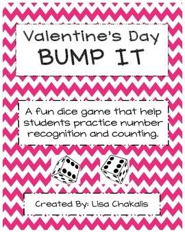 Valentines Day Bump It Math Game