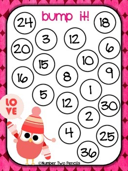 Valentine's Day Bump: Multiplication Facts