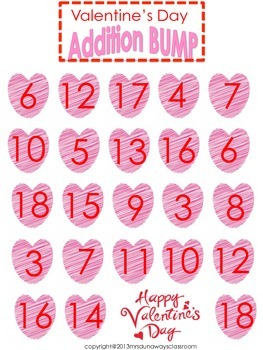 Valentine's Day Bump x 2:  Addition AND Multiplication