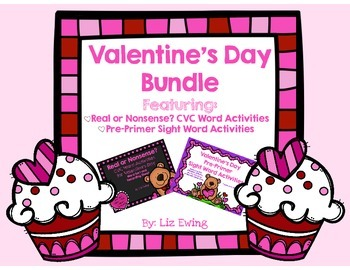 Valentine's Day Bundle - CVC Real/Nonsense Word Sort and S