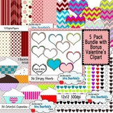 Valentine's Day Bundle - Clipart and Paper