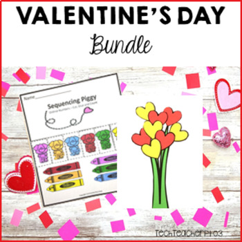 Valentines Day Bundle: Craft Cards, Literacy Sheets and Maths Activities