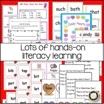 Valentines Day Bundle ~ First Grade Math and Literacy