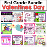 Valentine's Day Bundle First Grade Math and Literacy