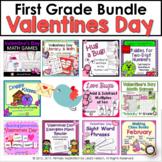 Valentine's Day Bundle First Grade Math and Literacy