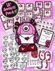 Valentine's Day Bundle Literacy & Math Games PreK Pre-K Kindergarten Preschool