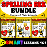 Valentines Day Music Bundle: Note Name Music Worksheets Music Games & Activities