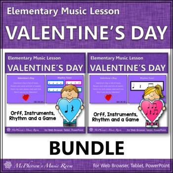 Valentine's Day Music: Valentine's Day Orff, Rhythm & Instruments {Bundle}