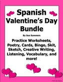 Spanish Valentine's Day Bundle - 15 Items, 73 Pages - El D