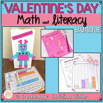 valentine s day literacy and math bundle tpt. Black Bedroom Furniture Sets. Home Design Ideas