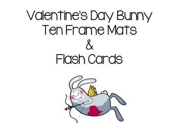 Valentine's Day Bunny Ten 10 Frame Mats