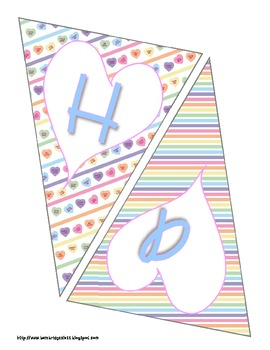 Valentine's Day Bunting Banner