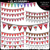Valentine's Day Bunting Banners Clip Art - Valentine Clip Art