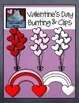 Valentine's Day Bunting and Clips
