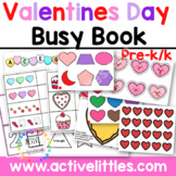 Valentines Day Busy Book Activity Binder - February