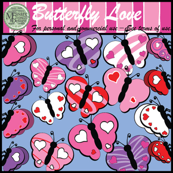 """Valentine's Day """"Butterfly Love"""" {Messare Clips and Design}"""
