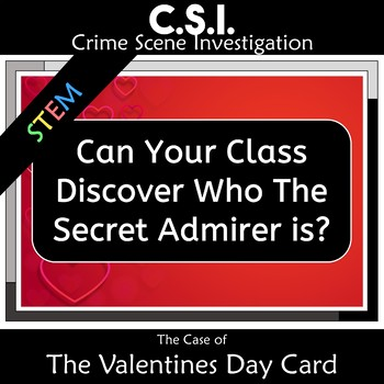 Valentines Day Math CSI: The Case of the Valentines Day Card