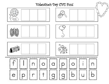 valentine 39 s day cvc fun learn how to build cvc words by stacia bernath. Black Bedroom Furniture Sets. Home Design Ideas