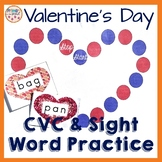 CVC and Sight Word Reading Valentine's Day practice