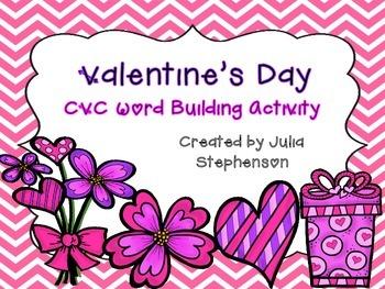Valentine's Day CVC Word Building Activity