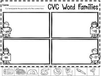 Valentine's Day CVC Word Work Pack