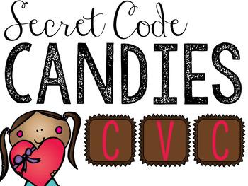 Valentine's Day CVC Words - Secret Code Candies