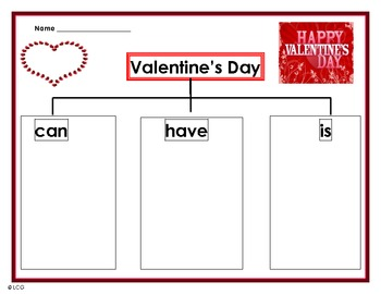 Valentine's Day- Can/Have/Is map